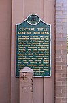 Central Title Service Building historical marker Ann Arbor Michigan.JPG