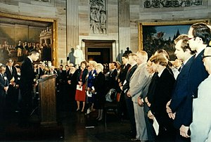 Days of Remembrance of the Victims of the Holocaust - Rabbi Arnold Resnicoff delivers invocation at national DRVH ceremony, Capitol Rotunda, April 27, 1987