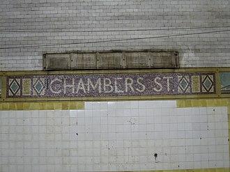 Brooklyn Bridge–City Hall/Chambers Street (New York City Subway) - Image: Chambers Street BMT 006