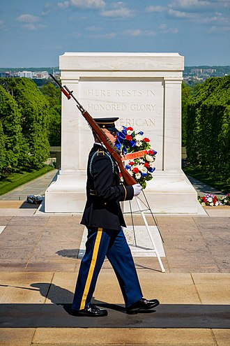 Tomb of the Unknown Soldier (Arlington) - Tomb Guard on post, 2018