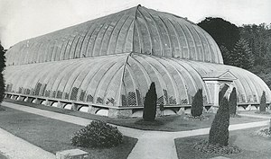 Joseph Paxton - Great Conservatory at Chatsworth, built from 1836 to 1841 and demolished in the 1920s.