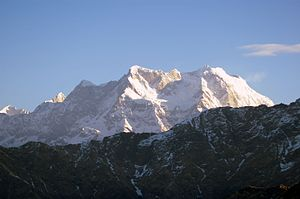 Chaukhamba - Image: Chaukhamba from Tungnath Early Morning vvnataraj