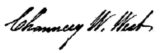 Chauncey W. West - Image: Chauncey W. West Signature