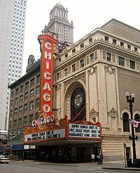 The Chicago Theatre was preserved in a four-year battle involving the Landmarks Preservation Council of Illinois.