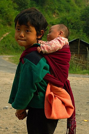 Demographics of Arunachal Pradesh - Children in Bomdila, Arunachal Pradesh