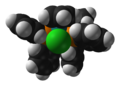 Chloro(cyclopentadienyl)bis(triphenylphosphine)ruthenium-from-xtal-1992-3D-SF.png