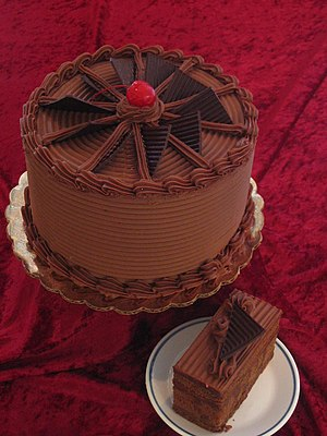Cake - Chocolate fudge cake with chocolate icing
