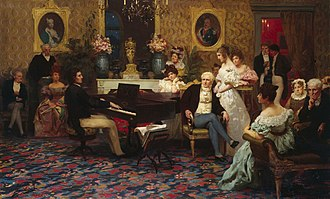 Frédéric Chopin - Chopin plays for the Radziwiłłs, 1829 (painting by Henryk Siemiradzki, 1887)