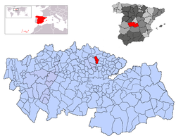 Location of Chozas de Canales