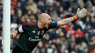 Christian Abbiati - Abbiati with Milan in 2012