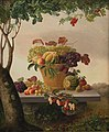 Christine Løvmand - A Basket of Fruit in a Landscape - KMS227 - Statens Museum for Kunst.jpg