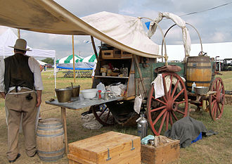 Chuckwagon - A historical recreation of a chuckwagon at the Texas Parks and Wildlife Expo in Austin