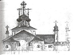 Church of Transfiguration at the Moscow Brotherly cemetery plan2.jpg