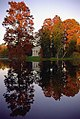 "Cincinnati - Spring Grove Cemetery & Arboretum ""Geyser Lake - Cypress Trees & Fleischman Mausoleum Reflected"" (4143512652).jpg"