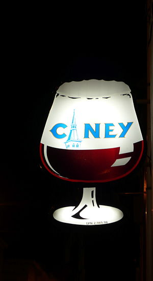 Advertising sign for Ciney beer, possibly enam...