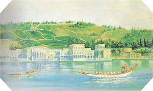 Çırağan Palace - The palace in 1840