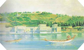 Çırağan Palace - The palace in 1840