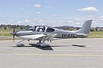 Cirrus SR22 G5 GTS (VH-XVC) taxxing at Wagga Wagga Airport.jpg