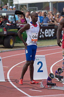 Clavel Kayitaré French Paralympic athlete