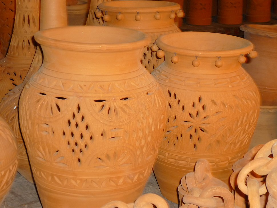 Clay pots in punjab pakistan