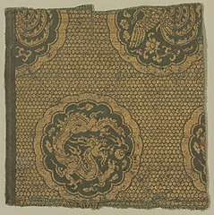 Textile with Phoenixes and Dragons