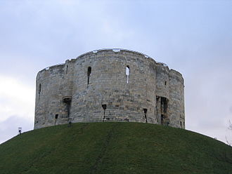 History of the Jews in England (1066–1290) - Clifford's Tower, where the Jews of York were killed in 1190.