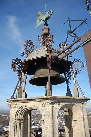Weather vane - Weather vane and bell on the roof of the Cathedral Saint-Étienne of Bourges (France)