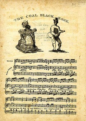 "Coal Black Rose - Sheet music to ""Coal Black Rose"", c. 1830"