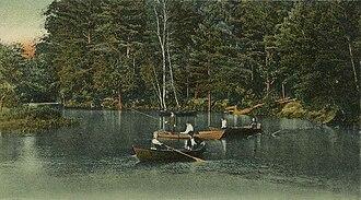Cochecho River - The Cochecho in Rochester c. 1905