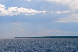 Mississagi Strait with Cockburn Island in distance