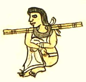 Aztec slavery - Wooden collar.