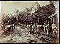Collectie Nationaal Museum van Wereldculturen TM-60062284 Landweg met twee karren en arbeiders bij een houten gebouw Jamaica J. Valentine & Sons (Fotostudio).jpg