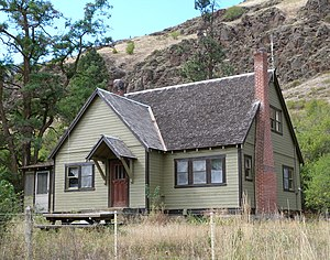 National Register of Historic Places listings in Wallowa County, Oregon - Image: College Creek residence Wallowa Whitman NF Oregon