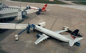 Boarding (transport) - Image: Cologne Bonn Airport Terminal C5