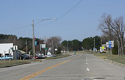 Coloma Wisconsin Downtown Looking West WIS21.jpg