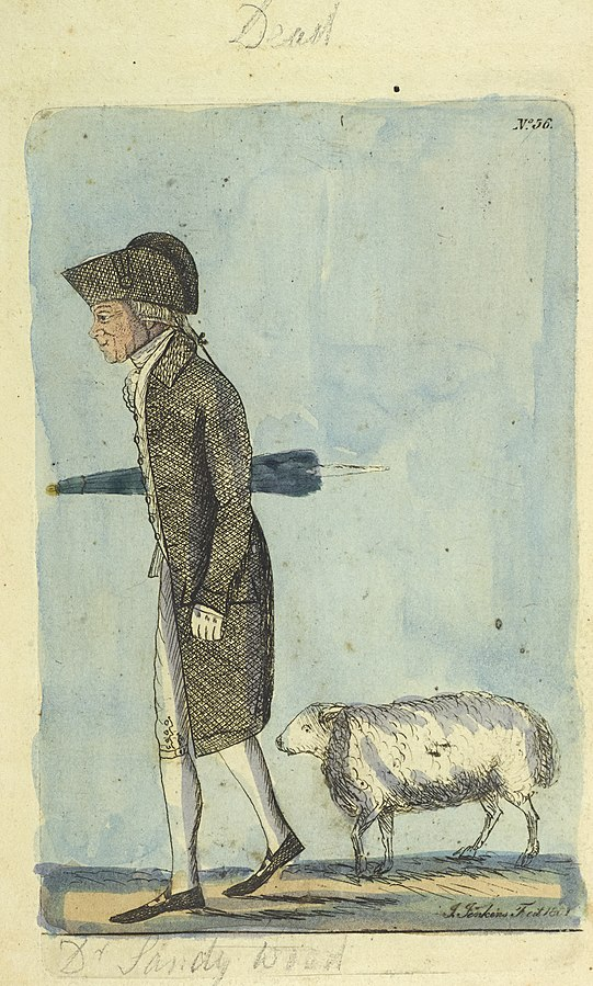 Colour etching of Dr Sandy Wood