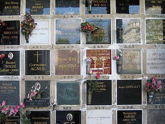 Columbarium - Image: Columbarium at Père Lachaise Cemetery