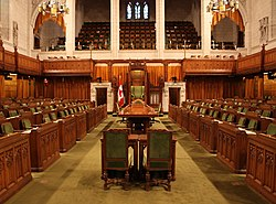 The chamber of the House of Commons of Canada Image: Makaristos.