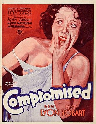 Compromised (1931 film) - Window card
