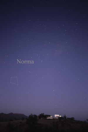 Norma (constellation) - The constellation Norma as it can be seen by the naked eye