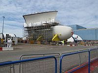 Construction of HMS Queen Elizabeth MOD 45157271.jpg