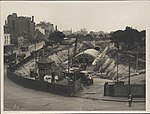 Construction of train tunnel Hyde Park, 1923 (8283775668).jpg