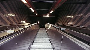 Cornelia Metro Station internal escalator.jpg