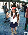 Cosplayer of San, Princess Mononoke at Anime Expo 2003-07.jpg