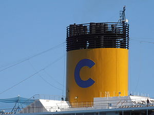 Costa Pacifica' Funnel Tallinn 29 May 2012.JPG