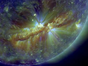 Crackling with Solar Flares Flare zoom in