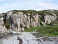 Crags near beach - geograph.org.uk - 911782.jpg