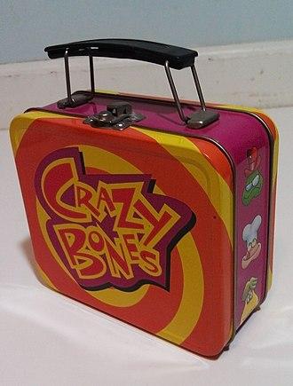 Gogo's Crazy Bones - Photograph of an official Crazy Bones lunchbox.