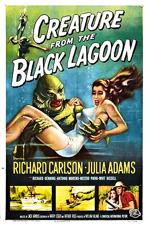 Creature from the Black Lagoon - Theatrical release poster by Reynold Brown