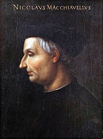 Niccolò Machiavelli - Oil painting of Niccolò Machiavelli by Cristofano dell'Altissimo
